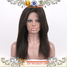 Rhhc por atacado do cabelo humano perucas do laço frontal, venda quente da alta qualidade reto de seda da china