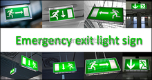 RoHS industrial led emergency light exit sign board for bulkhead