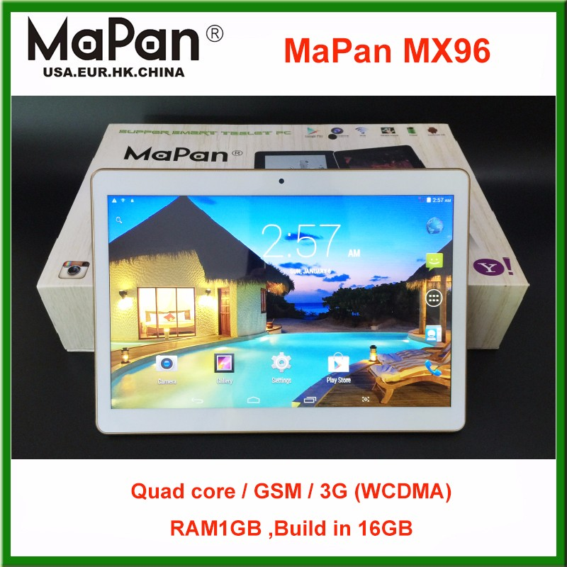 "2016 Newest 9.6"" Quad core 3G tablet PC FCC ID/Dual sim card slot android Tablet PC/MaPan MX96 laptop,1280 * 800,build in 16GB"