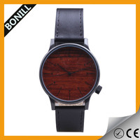 Newest top wooden brand for mens and women leather strap custom made fashion 2016 wood watches