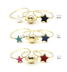 Galaxy Star Stacking Knuckle Rings Band Midi Ring,Stack Plain Band Midi Mid Finger Knuckle Ring Set