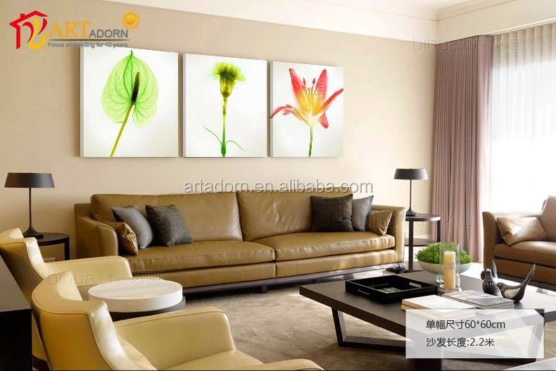 wholesale home interior decorator canvas flower oil