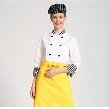 Hotel and Restaurant Staff Uniform Polyester Cotton Chef Uniform Coat