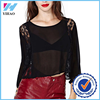 Yihao Fashion Ladies Long Lace Sleeve Causel Tops Sexy Women Beach Blouse Customized
