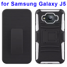 3 In 1 Pattern Silicone and PC Snap-On Kickstand Hybrid Case for Samsung Galaxy J5 Case