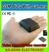 GSM listening deviece Quad Band SMS Control Take Photo Support TF Card GSM Bug With Camera