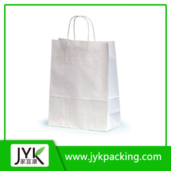 New Popular Shopping Bags Wholesale, White Paper Bags
