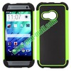 Football Pattern Dual-color Anti Slide Detachable Silicone and PC Hybrid Case for HTC One M8 Mini