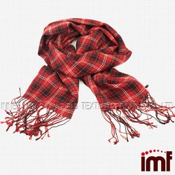 Red Check Tartan Plaid Pashmina Wrap Stole Scarf Shawl