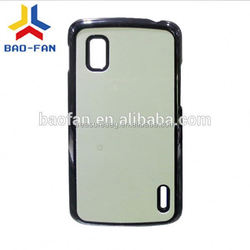 Sublimation PC phone case for LG Nexus4 with metal sheet