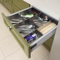 Stainless Steel Drawer Divider, Drawer Organizer, Utensil Storage Tray