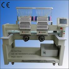 New high speed elucky 2 head computerized embroidery machine price