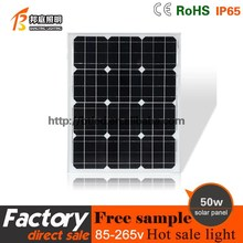China manufacture price Solar Panels 50w monocrystalline, for solar module system