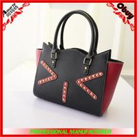 2015 new designer PU smiling face cat handbag ,leather women bag wholesale china