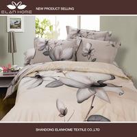 100% cotton hot sale 4 pcs 3D reactive printed bed sheet set