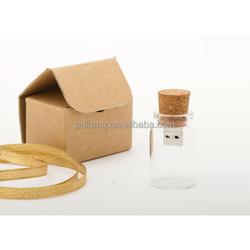 glass bottle shape usb flash drive