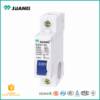 Latest price of mcb, Jubang single 1 pole miniature electrical circuit breaker, famous brand of china