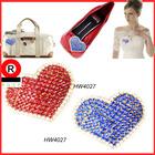 2014 moda strass coração- forma de convite de casamento e fivela de sapato clipe para acessórios e bolsa