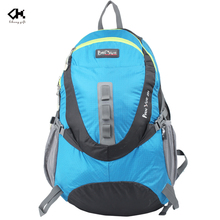 Customized Blue Sport Backpack With Logo Printing