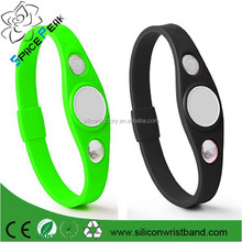 2015 Golf energy BALANCE 3000 negative ions Bio High Function Sports silicone rubber band Bracelet