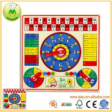 Classic Big Calendar Plate Kid Learning Toys Woody Wood Toys