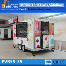 Fast Food Van/hot dog trailer For Sale/coffee vending trailer FVR55-35(skype:shsaidong21)