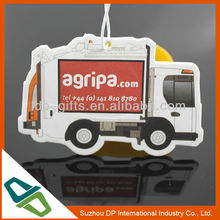 hanging car paper auto perfume for advertising