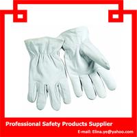 china cheap White pig split leather driver gloves