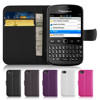 Wallet Flip PU Leather Credit Card Slot Case Cover For Blackberry S9720