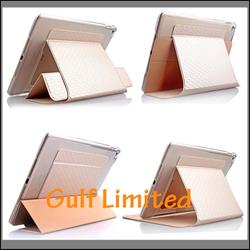 Three Folding Leather Case For iPad Air 2, ipad air 2 case