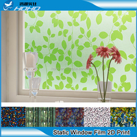 pvc glass paper with 100 designs 2D/static /printed window film