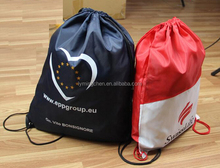 2015 durable eco-friendly environment promotion polyester drawstring shopping bag