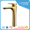 Gold color waistline series table install the basin water mixer for bathroom