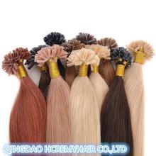 Fashion keratin hair extension,remy u tip keratin human hair extension