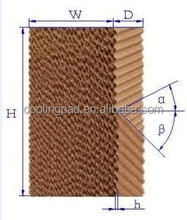 HS series long service life circulation evaporative cooling pad wall for the poultry equipment