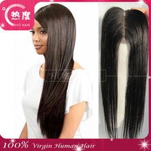 6A Free Shipping Brazilian Virgin 100% Human Hair Closures Straight hair Lace Closure 4*4 Middle 3 Way Free Part Bleached Knots