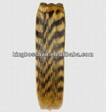 Tiger color Indian remy hair extension