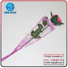 wedding decoration fiber red rose ceremony decoration romantic led flashing flower