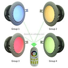 high quality high power energy star rgbw 12w led downlight recessed color adjustable with CE&RoHS