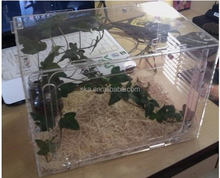 Factory direct wholesale fashion design clear acrylic reptile cage