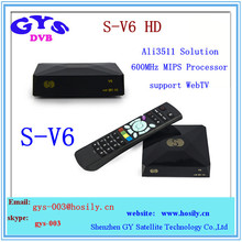 s-v6 Digital Satellite Receiver DVB-S2 Original S-V6 Mini satellite tv box