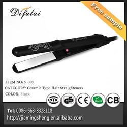 Silk Print Hair Flat Iron 2 in 1 Ceramic Hair Straightener and Curling Iron