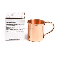 Copper Mug Favors, moscow mule drinking mugs, 16oz Authentic copper Moscow Mule Mugs with No Inner Lining, Solid Copper mug