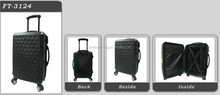 Trendy High quality hot sale item Newest promotional fashion men Travel ABS luggage Trolley case black color