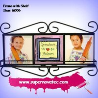 Decorative Iron Picture Frame with Shelf
