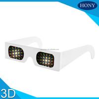 250g white cardboard paper fireworks glasses diffraction paper glasses