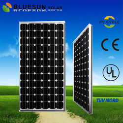 Best sell bluesun high efficiency low price mini solar panel mono 200W for home use