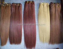 "Cheap Wholesale Perm Yaki Weaving16/18"" 100% Remy Human Hair Double Ladder Weft Extension"