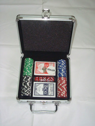 CQ professional casino aluminum poker case poker chips with ABS case