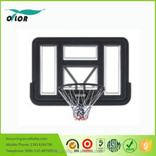 Deluxe black wall mounting glass basketball board system